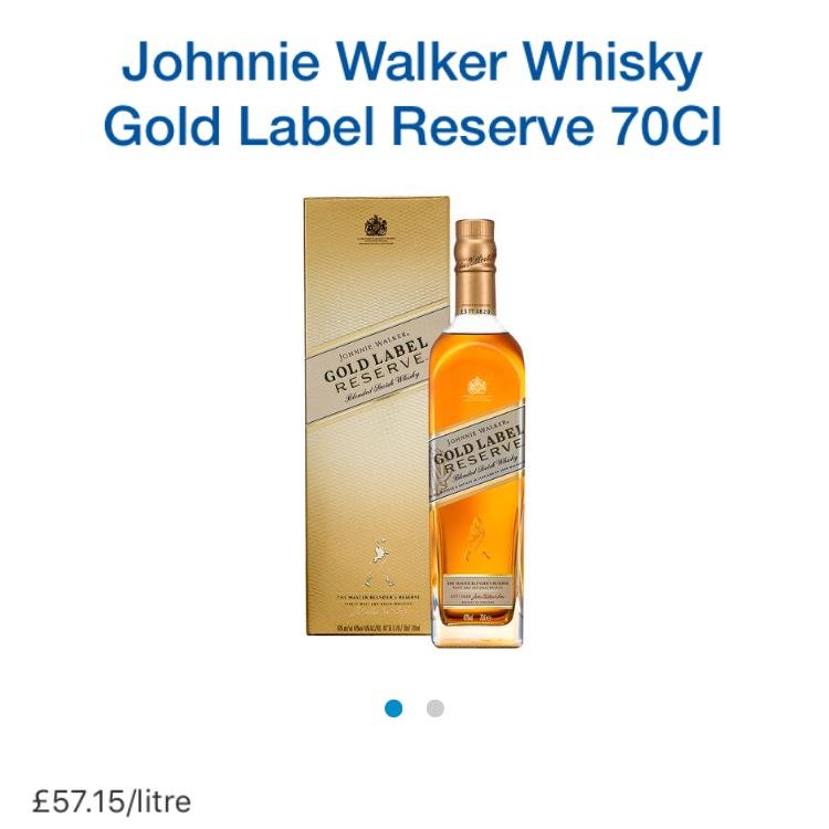 Johnny walker gold £22 @ tesco