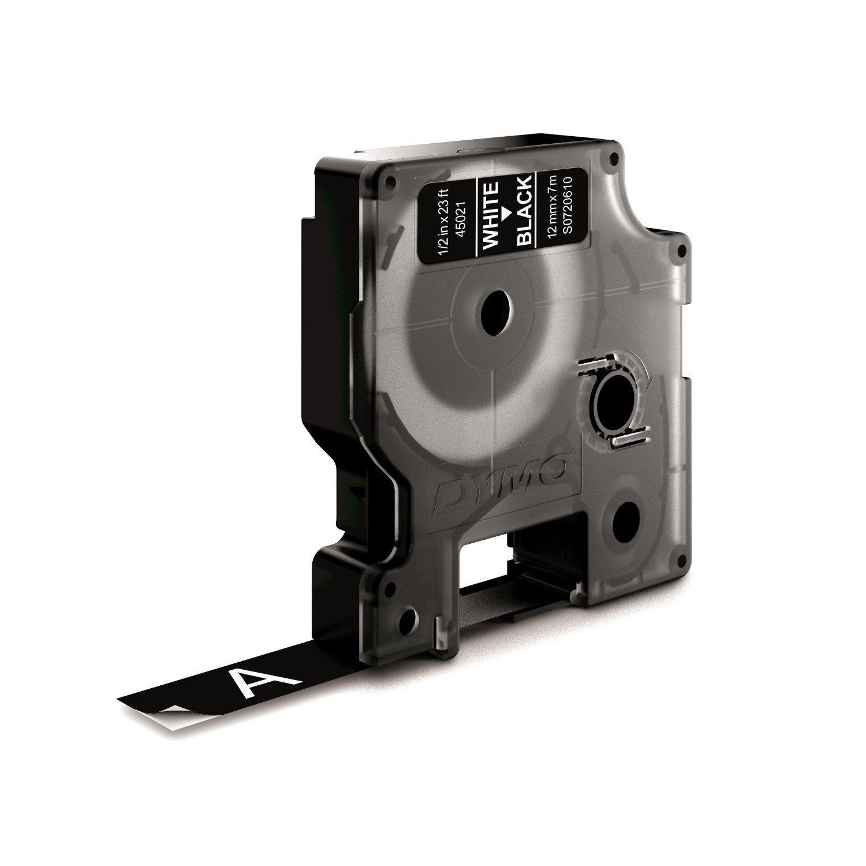 Dymo D1 45021 White on Black S0720610 12mm x 7M Label Cassette Genuine Original £6.50 @ Pen Sales / Ebay