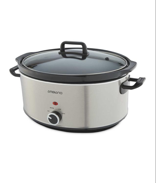 ambiano 6 5 litre slow cooker delivered aldi. Black Bedroom Furniture Sets. Home Design Ideas