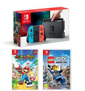 Nintendo Switch console Neon / Blue + Mario Rabbids Kingdom Battle + Lego City Undercover​ £299.99 @ Tesco Direct (Possibly In-Store as well)