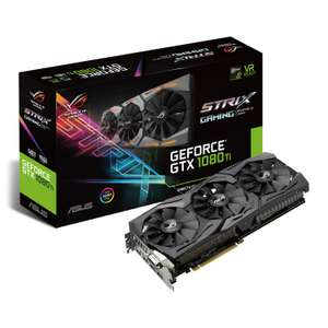 ASUS NVIDIA GeForce GTX 1080Ti 11GB ROG Strix Graphics Card + 2 free promotional games (Destiny 2 and Assassin's Creed Origins) £719.99 @ Scan (delivery +£5.48)