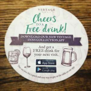 Download the Vintage Inns app and get a FREE Drink when buying a main meal