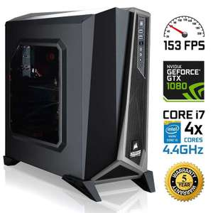 High spec gaming PC i7-7700K, GTX 1080, 250gb SSD and 2TB HDD, 5 years warranty £1589.99 at eBuyer.com