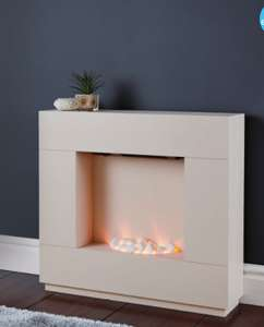 ALDI  Electric Sparkle Fireplace Suite - £99.99. Available in both black and white