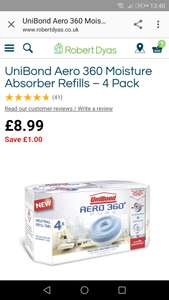 Unibond aero 360 refill pack of 4 - £7.64 with code @ Robert Dyas