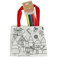 Colour Your Own Christmas Canvas Bag + Pens £1 C+C @ The Works (unicorn themed one also £1)