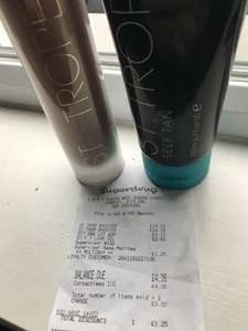 St. Tropez selected Self Tan found in store at Superdrug could be Nationwide!