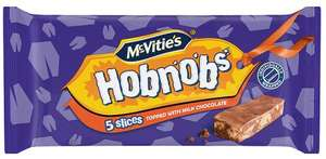 McVitie's Hobnobs Slices With Milk Chocolate 5 per pack was £1.00 now 67p @ Morrisons