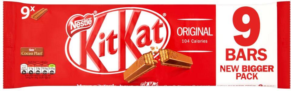 Kit Kat 2 Finger Milk Chocolate 9 Pack (186.3g) Half Price Was £1.99 Now 99p @ Tesco