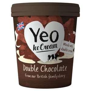 Yeo Valley Organic Vanilla or Double Chocolate Ice Cream (500ml) was £4.20 now any 2 for £5.00 @ Tesco