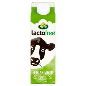 Arla lactofree semi skimmed dairy drink  1 litre  only £1.00 @ Morrisons