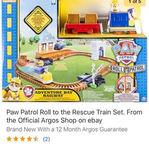 Paw Patrol Adventure Bay Train Set £13.99 - Free P&P @ Argos / Ebay