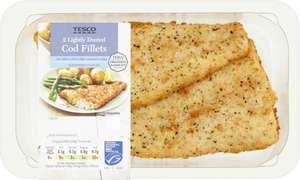 Tesco Lightly Dusted Cod Fillets (255g) was £3.20 now £2.00 @ Tesco