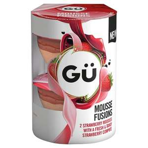 Gü Mousse Fusion - Chocolate & Toffee / Gü Mousse Fusion - Mango & Passion Fruit (2 x 70g) was £1.90 now £1.00 @ Tesco