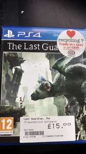 The Last Guardian ps4  £15  @ cex