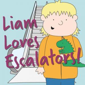 Free Liam Loves Escalators Kids' Book