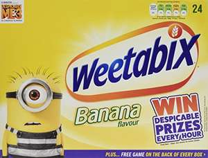 Weetabix Biscuits Banana Pack (Pack contains 24 units) (Pack of 5) @ amazon - add on item