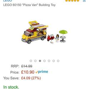Lego pizza van £10.90  (Prime) / £14.89 (non Prime) at Amazon