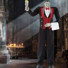 "Halloween 6ft 11"" (210.8cm) Animated Butler of Macabre Manor with Lights and Sound *** Reduced further***£49.99 delivered@ Costco"