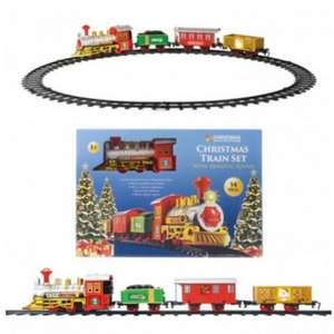 14 piece Christmas Tree Train Set with Sounds £12.98 delivered @ This Is It Stores