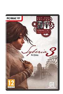 Syberia 3 – Day One Edition (Syberia 1 + Syberia 2 + Syberia 3 included) (PC DVD) £15.99 with prime (+£1.99 delivery no prime) @ amazon