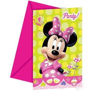 Disney Amscan Minnie Bow-Tique Invites/ Envelopes Party Accessory £0.26 (Add-on Item) @ Amazon