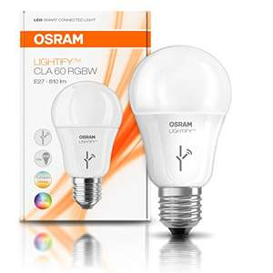 OSRAM LIGHTIFY Smart Home LED Light bulb E27 - 10W / 60W Dimmable / Warm White to Daylight - RGBW Colour Changing / [Energy Class A+] £9.99 (Prime) / £13.98 (non Prime) at Amazon
