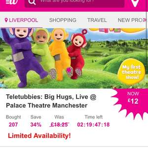 Teletubbies Live Manchester Only £12 with Wowcher / atgtickets.com
