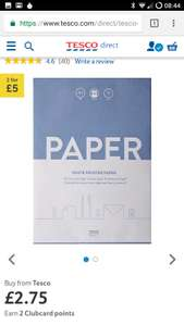 Tesco A4 printer paper misprice - 2 for 50p