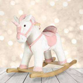 Pink and White Rocking Unicorn with sounds £30 C+C @ Dunelm Mill (horse same price + coming soon Husky)