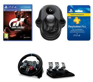 GT Sport with Racing Wheel and PSN Plus 3 months £264.99 - Currys Separate selling price £414.96