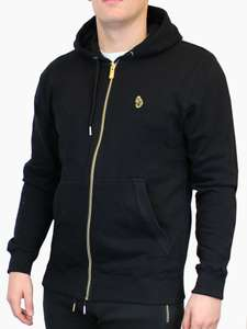 Luke 1977 Mens Marval Zip Through Hoodie With Gold Zip Hoody Hooded Top £26.99 @ theluke1977outlet / Ebay