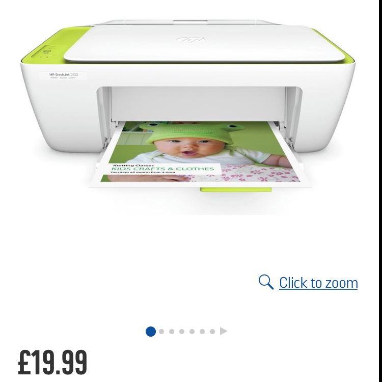 Argos HP Deskjet 2132 All-in-One Printer £19.99