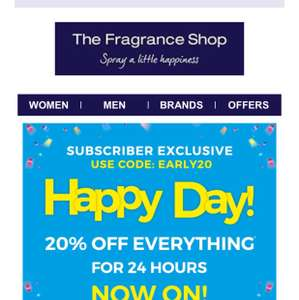 The Fragrance Shop discount