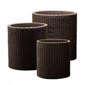3x Keter Rattan Style Garden Planters £34.99 for Prime members @ Amazon