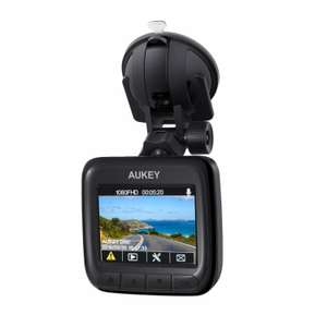 "AUKEY Dash Cam 1080P Ultra Compact Car Camera 170° Wide Angle Lens, WDR Night Vision, Motion Detection, G-Sensor and Loop Recording, 2"" LCD. 2hours 48mins remaining lightning deal - £33.99 Sold by yueying and Fulfilled by Amazon"
