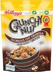 Kellogg's Crunchy Nut Glorious Oat Granola Chocolate & Nut (380g) was £2.49 now £1.24 @ Iceland