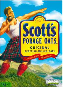 Quaker Porridge Oats (1kg) was £1.98 now 2 packs for £3.00 / Scots Porridge Oats (1kg) was £2.00 now 2 packs for £3.00 @ Asda