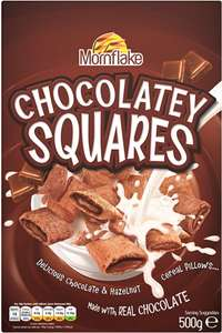 Mornflake Chocolatey Squares (500g) was £2.20 now £1.00 @ Morrisons