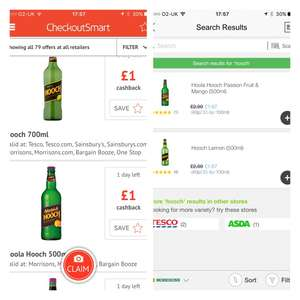 Hooch for 67p after cashback from checkoutsmart and Morrisons