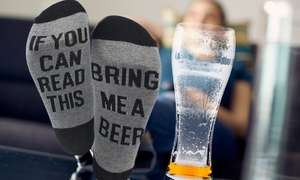 Men's Bring Me Beer Winter Socks £2.99 / £4.98 delivered @ Groupon