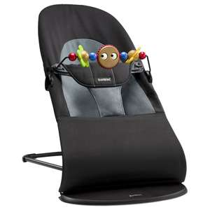 Babybjörn Black Soft Bouncer Balance with Wooden Toy £84 @ Alexandalexa