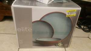 Tesco 12 piece Stoneware dinnerware set. Gibson Elite £7.50 instore - Quedgeley, Gloucester