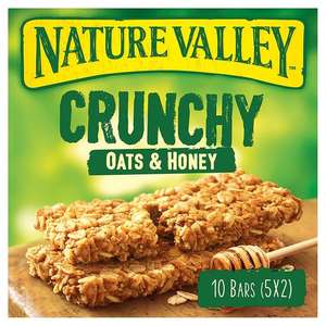 Nature Valley Crunchy Granola Oats And Honey 5X42g, was £2.39 now just £1 @ Tesco