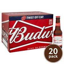 Budweiser 20X300ml now £10 @ tesco