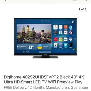 "Digihome 40"" UHD 4K Smart TV  £239.20 @ Co-Op eBay"