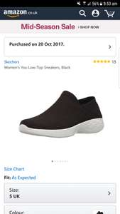 Sketchers womens you low top sneakers size 5 and size 6 is £18.80 (Prime) £23.55 (Non Prime) @ Amazon