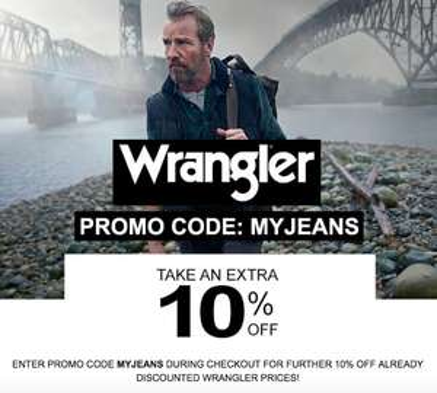 Wrangler 10% off promo code: MYJEANS @ Jeanscene
