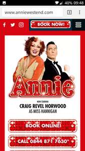 "KIDS GO FREE! ""Annie"" the musical. London West End with a paying adult @ ATG Tickets"