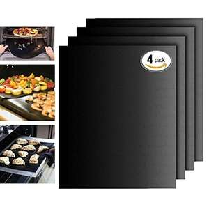 BBQ Grill Mat Gas Grill Mats Set of 4 - £1.79 (Prime) £6.78 (Non Prime) @ Sold by Jimdada and Fulfilled by Amazon